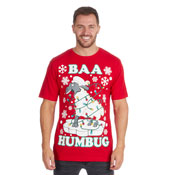 Christmas T-Shirt Red Baa Humbug