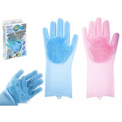 Magic Silicone Scrubber Cleaning Gloves