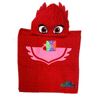 Official PJ Masks Towel Cotton Poncho Red