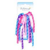 Girls Ribbon Streamer Hair Clips