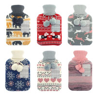 Knitted Trendy Jacquard Designs Hot Water Bottles