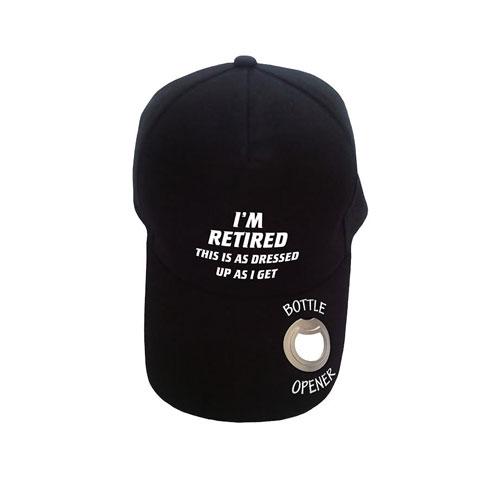 Baseball Cap with Bottle Opener I'm Retired