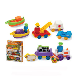 12 Piece Fun Vehicle Play Set by Fun Time