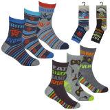 Boys 3 Pack Design Gaming Socks