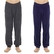 Mens Plain Marl Fleece Lounge Pants