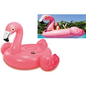 "56"" Inflatable Flamingo Ride On"