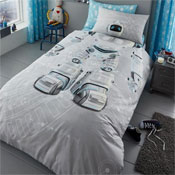 Childrens Robot Panel Duvet Set