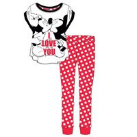 Ladies Official Minnie Mouse Love You Pyjamas