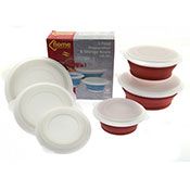 Collapsible Food Prep Bowl With Lid Assorted