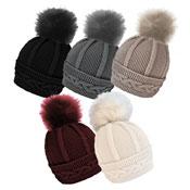 Ladies Cable Hat With Detachable Pom Pom Carton Price
