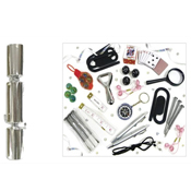 Plain Silver Christmas Catering Crackers