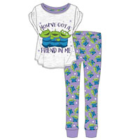 Ladies Official Disney Toy Story Alien Pyjamas