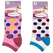Ladies 3 Pack Trainer Socks Spots
