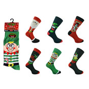 Mens Novelty Design Christmas Socks
