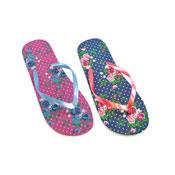 Ladies Flip Flops Floral Design