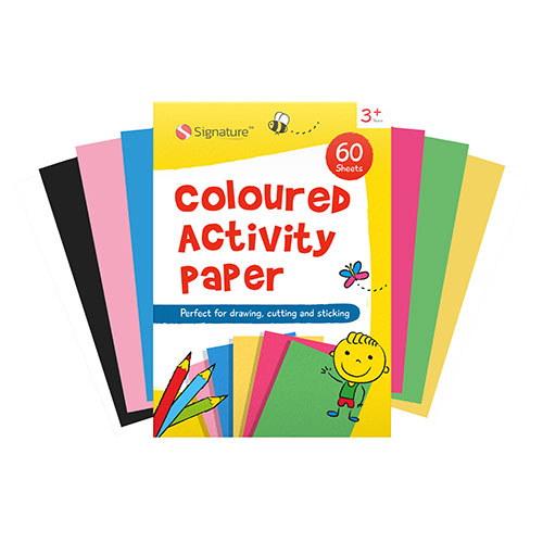 Multi Coloured Activity Paper Pad 60 Sheets