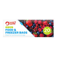 Slide And Lock Food And Freezer Bags Small 20 Pack
