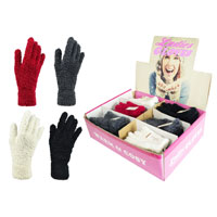 Ladies Soft Feather Gloves in Display Box