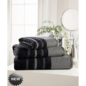 Egyptian Cotton Bath Towel Black Stripe