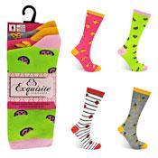 Ladies Exquisite Computer Socks Tutti Fruity