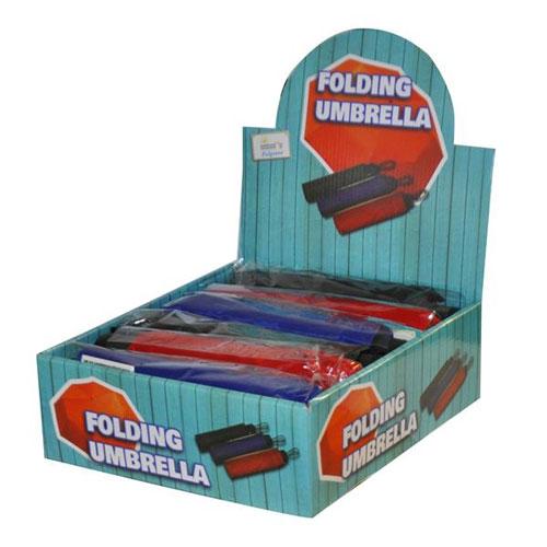 Plain Folding Umbrella In Display Box