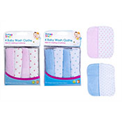 Baby Soft Wash Cloth Bath Plain/Spots