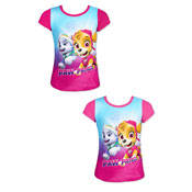 Girls Paw Patrol Short Sleeve Printed T-Shirt
