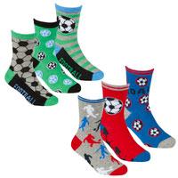 Boys 3 Pack Design Socks Football