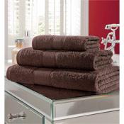 Egyptian Cotton Bath Towel Light Brown Plain