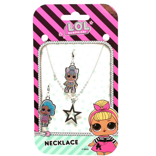 Official LOL Surprise 3 Piece Charm Necklace Set