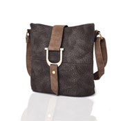 Ladies Audrey Bucket Crossbody Bag Brown