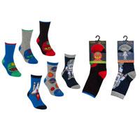 Boys Spaceman Cotton Rich Socks