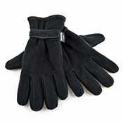 Mens Polar Fleece Gloves Thinsulate Black