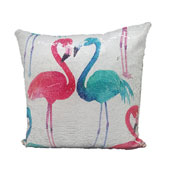 Flamingo Sequin Filled Cushion