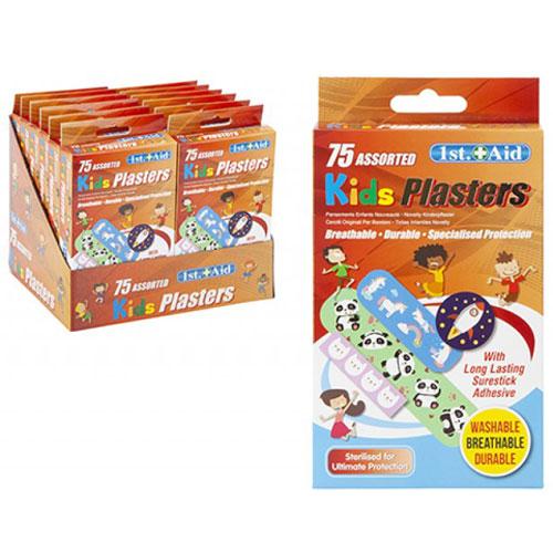 75 Piece Assorted Kids Plasters
