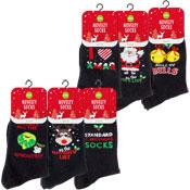 Mens Novelty Christmas Design Socks