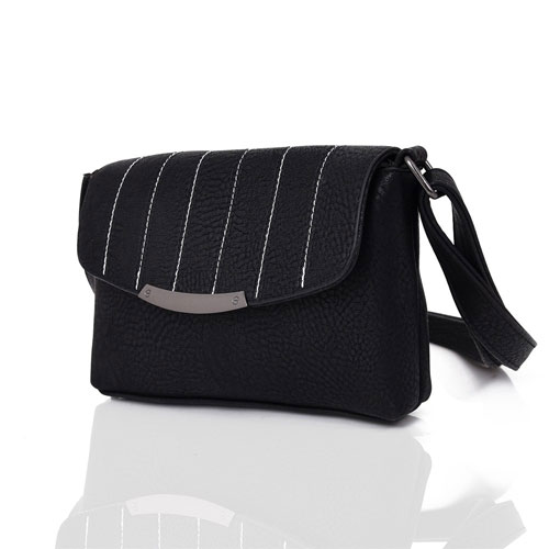 Ladies Lilly Envelope Style Mini Crossbody Bag Black