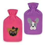 Pug & French Bulldog Fleece Hot Water Bottle