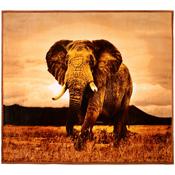 Luxury Flannel Animal Blanket Elephant