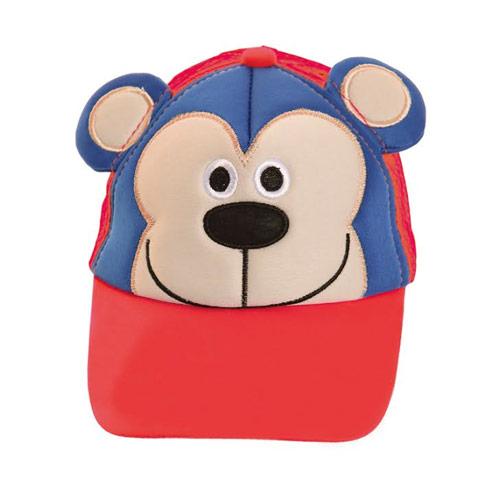 Kids Monkey Design Baseball Cap With Mesh Back