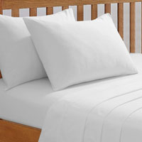 68 Pick Fitted Sheet White