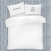 Novelty Slogan Pillow Cases The Boss