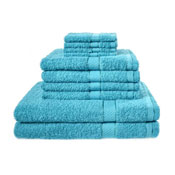 10 Piece Luxury Towel Bale Set With Ribbon Teal