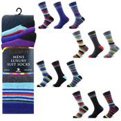 Socksation Mens Luxury Suit Socks Stripes