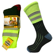 Mens High Viz Work Socks