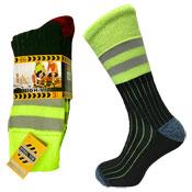 Mens High Viz Work Socks