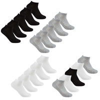 Ladies 5 Pack Mesh Insert Trainer Socks Assorted