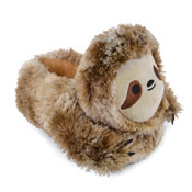 Kids Plush Sloth Soft Fleece Slipper