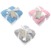 Plain Cotton Hooded Baby Towels 2 Pack