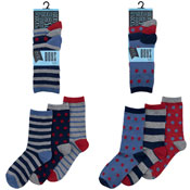 Boys Stars/Stripes Design Socks